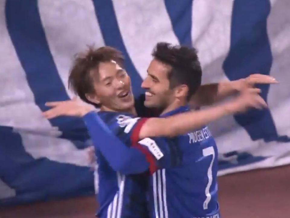 Japão: Hugo Vieira bisa em vitória dos Yokohama Marinos