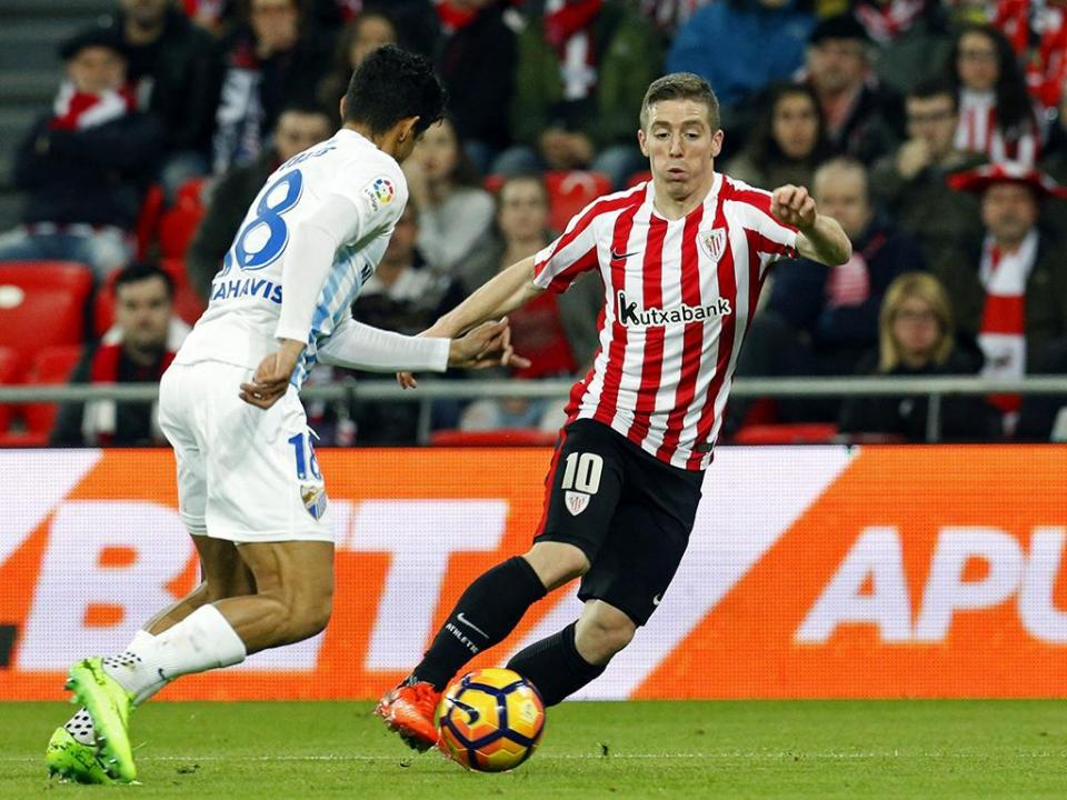 Athletic Bilbao vence Málaga sem Duda