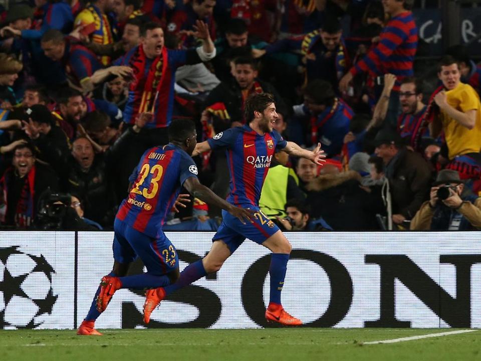 Sergi Roberto suspenso por quatro jogos depois da expulsão no clássico