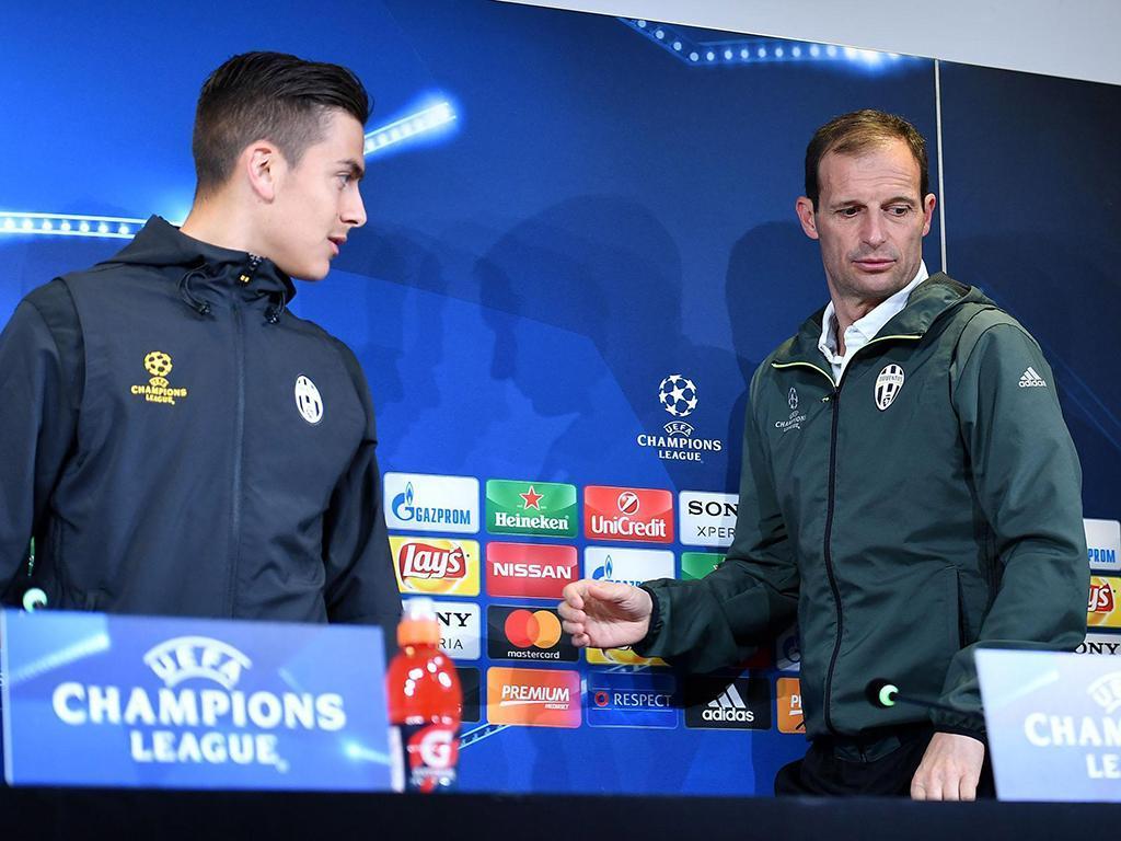 Allegri sobre Dybala: «Sou treinador, não um cão de guarda»