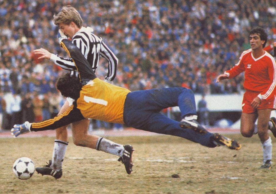 Michael Laudrup, Juventus-Argentinos Juniors (2-2, 1985)