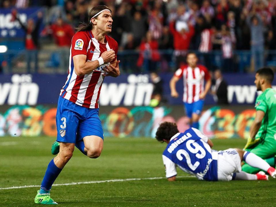 Atlético vence Real Sociedad e isola-se no 3.º lugar à condição