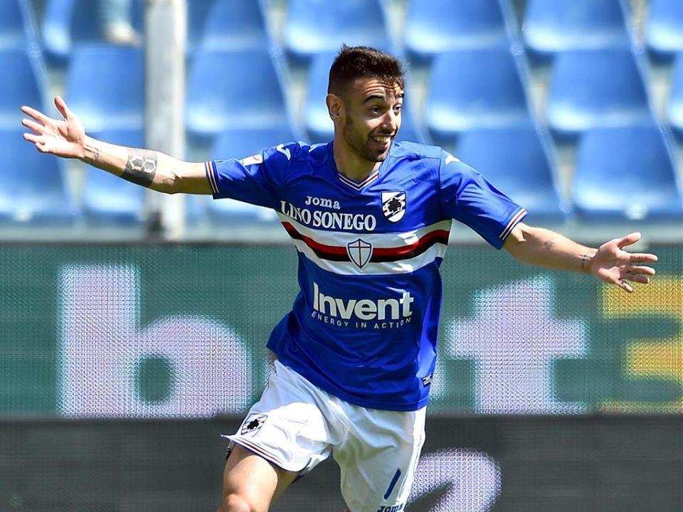 Golaço de Bruno Fernandes a abrir empate entre Sampdória e Fiorentina (2-2)