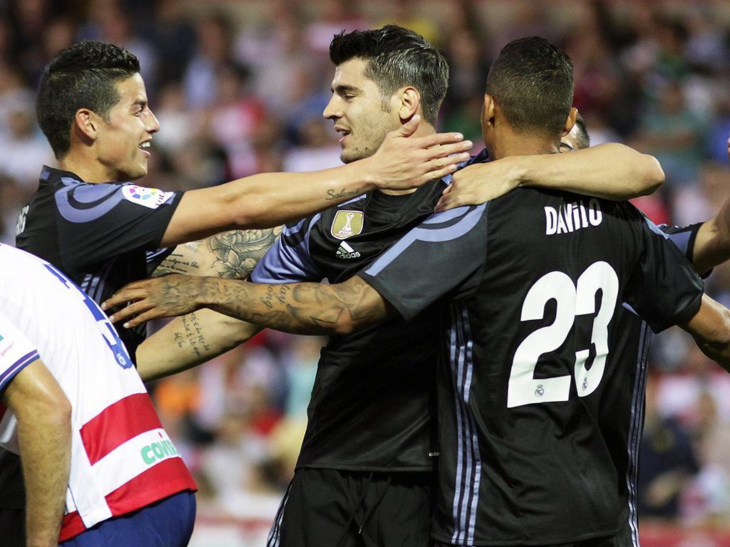 Fábio Coentrão assiste na goleada do Real Madrid — Espanha