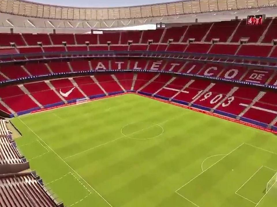 VÍDEO: o aspeto do novo estádio do Atlético Madrid