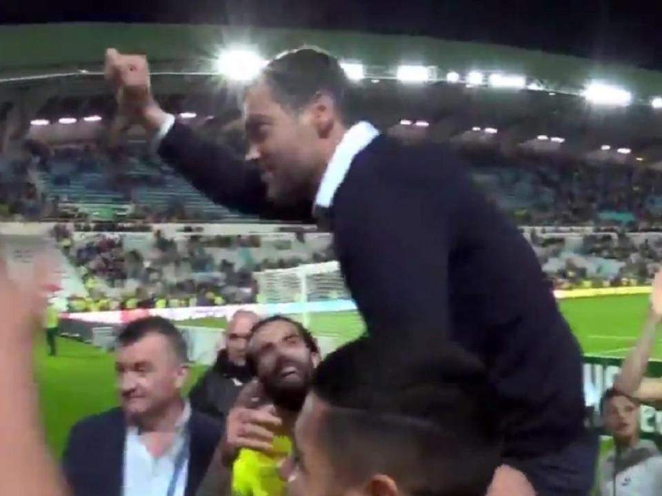 VÍDEO: Conceição como um «rei» em Nantes