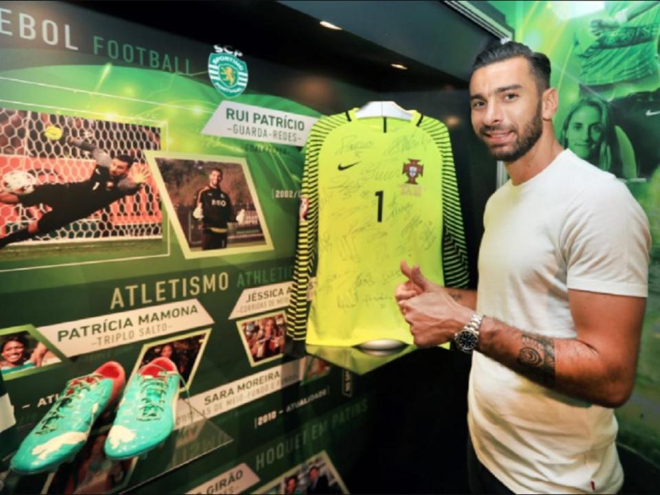 Patrício doa camisola do 1.º jogo do Euro 2016 ao museu do Sporting