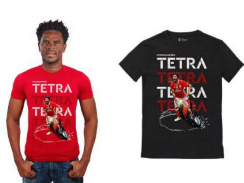 FOTO: Benfica lança t-shirts com vespa de Eliseu