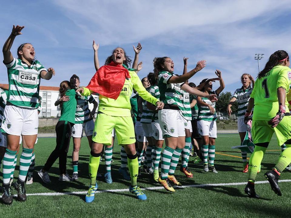 VÍDEO: o golaço de Diana Silva na festa do título do Sporting
