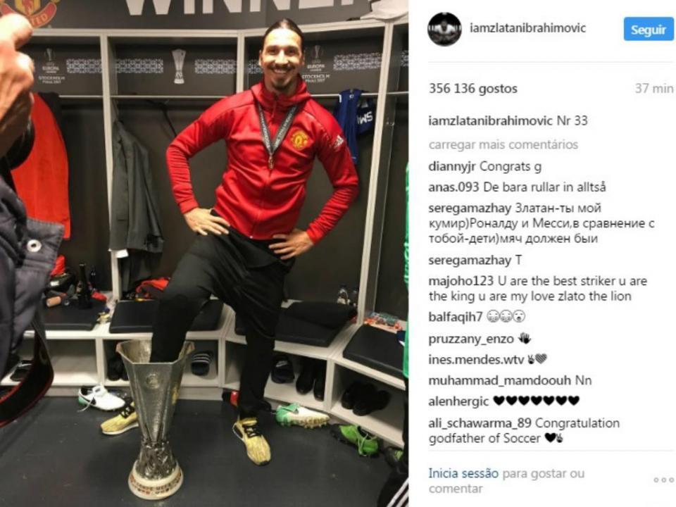 Ibrahimovic sendo Ibrahimovic: veja como ele festejou
