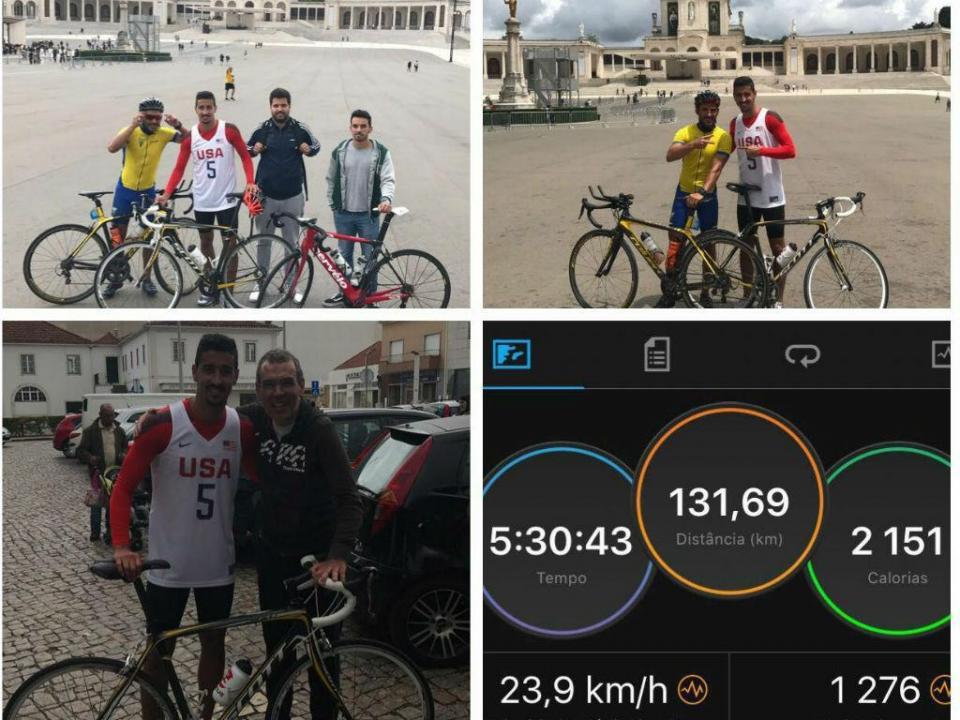 FOTOS: André Almeida foi a Fátima de bicicleta