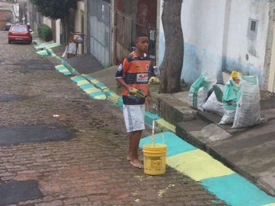 FOTO: há três anos Gabriel Jesus andava a pintar ruas