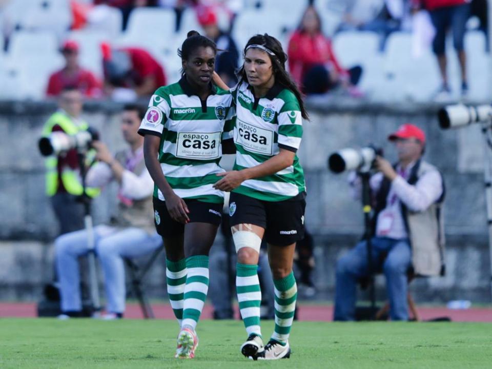 Sporting: equipa feminina goleou Hajvalia, mas saiu da Champions