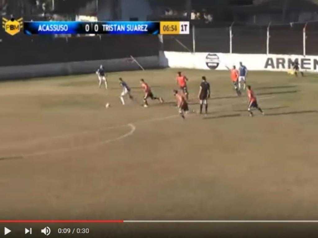 VÍDEO: assistência do árbitro e golo!