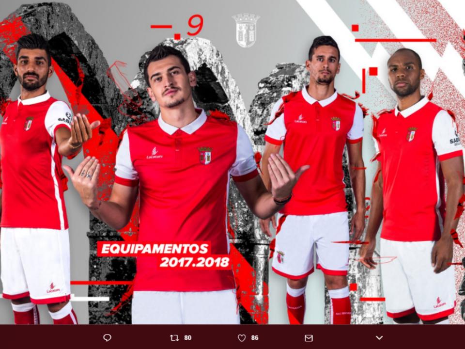 e4db0f363 Sp. Braga apresenta a camisola principal