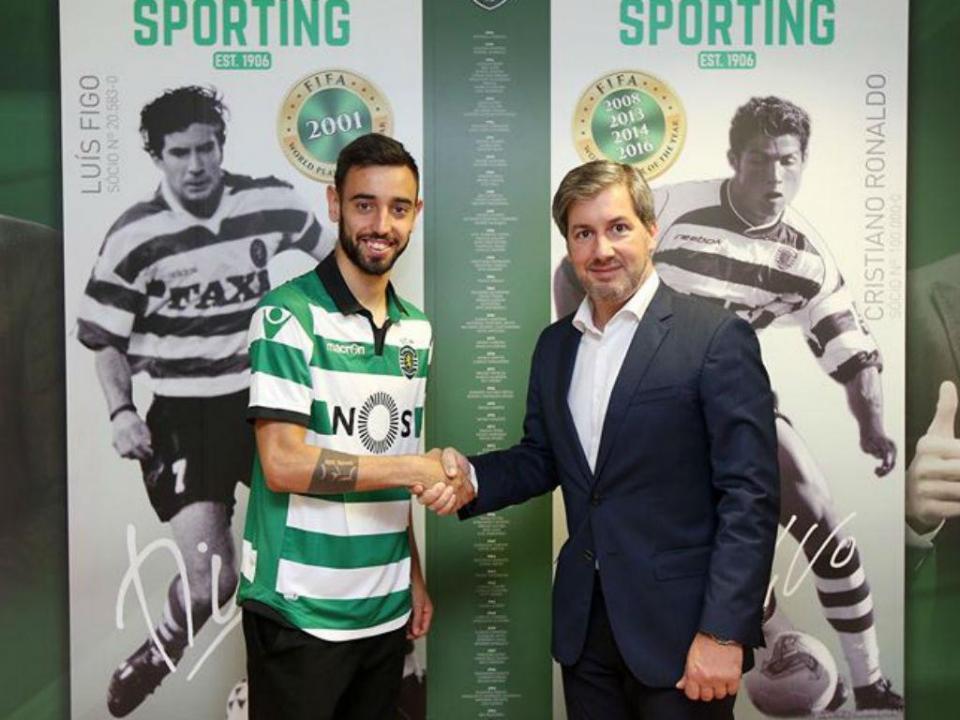 Sporting: Bruno Fernandes com cláusula de 100 milhões
