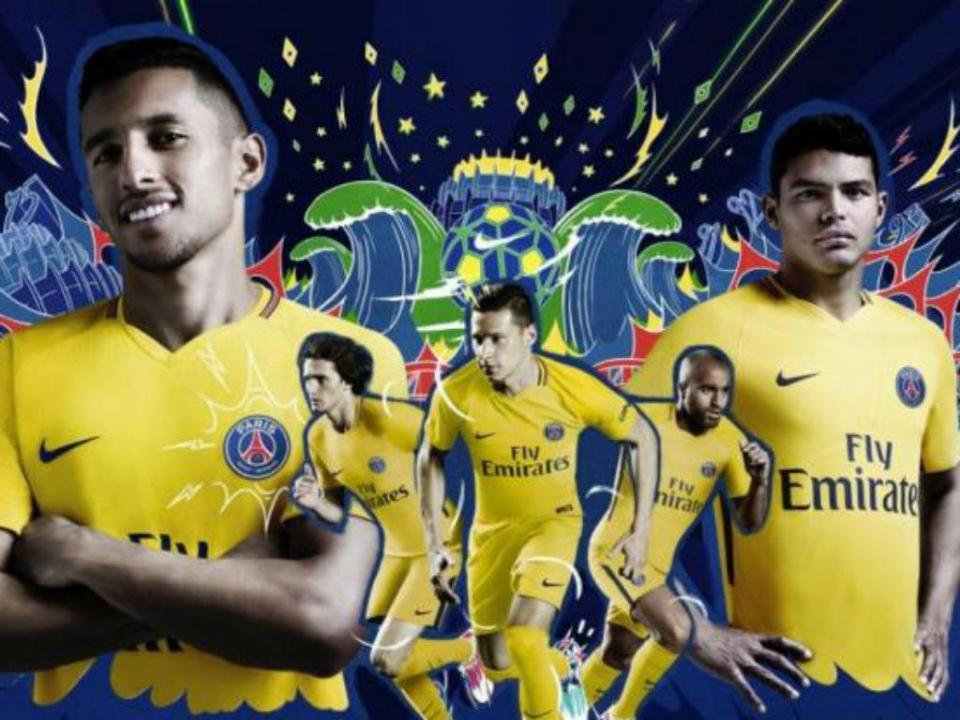 PSG com equipamento amarelo em homenagem aos brasileiros ... 1f8f7add4aac9