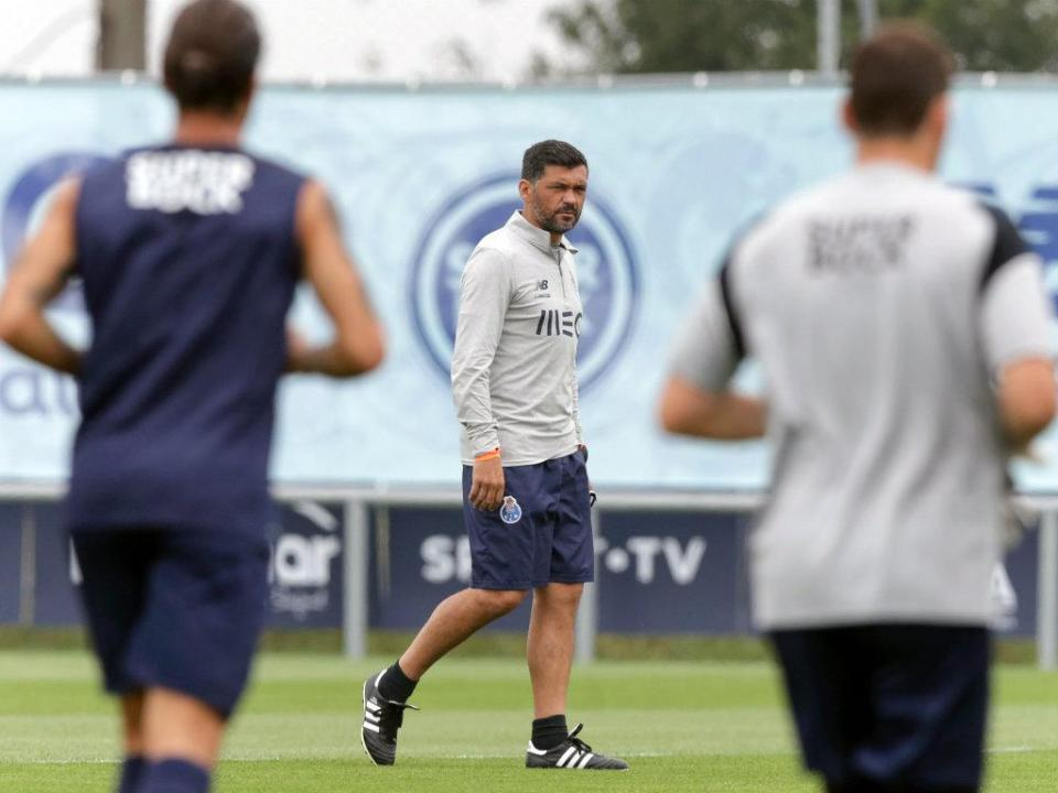 FC Porto: uma baixa no último treino antes do Santa Clara