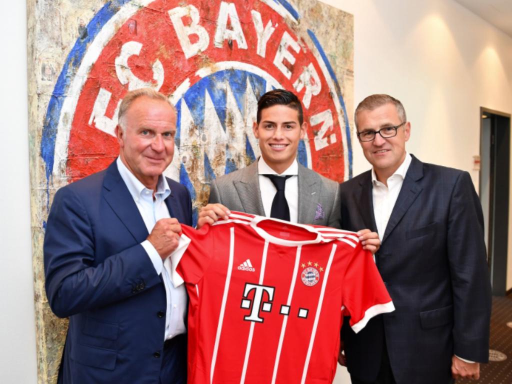Bayern: James sofreu comoção cerebral