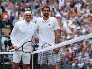 Marin Cilic e Roger Federer (Reuters)