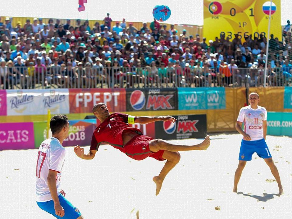 Futebol Praia: Portugal perde com a Ucrânia na Liga Europeia