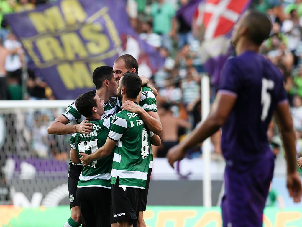 Leões vencem Fiorentina com golo de Bas Dost