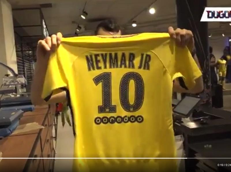 Neymar vai vestir a camisola número 10 no PSG