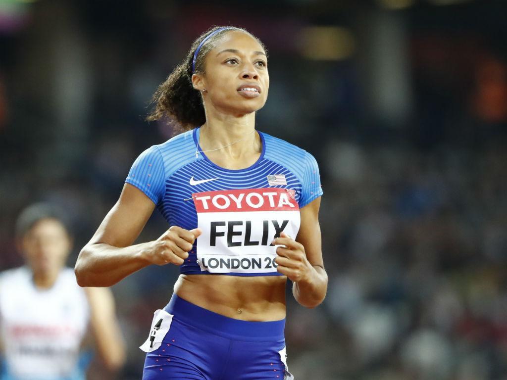 Allyson Felix é a mais medalhada de sempre em Mundiais de atletismo