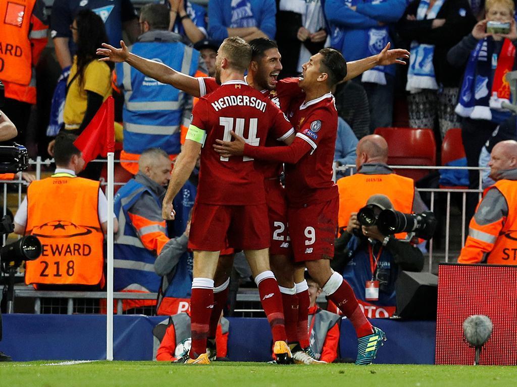 LC: Liverpool entra a golear, deixa reduzir mas elimina Hoffenheim