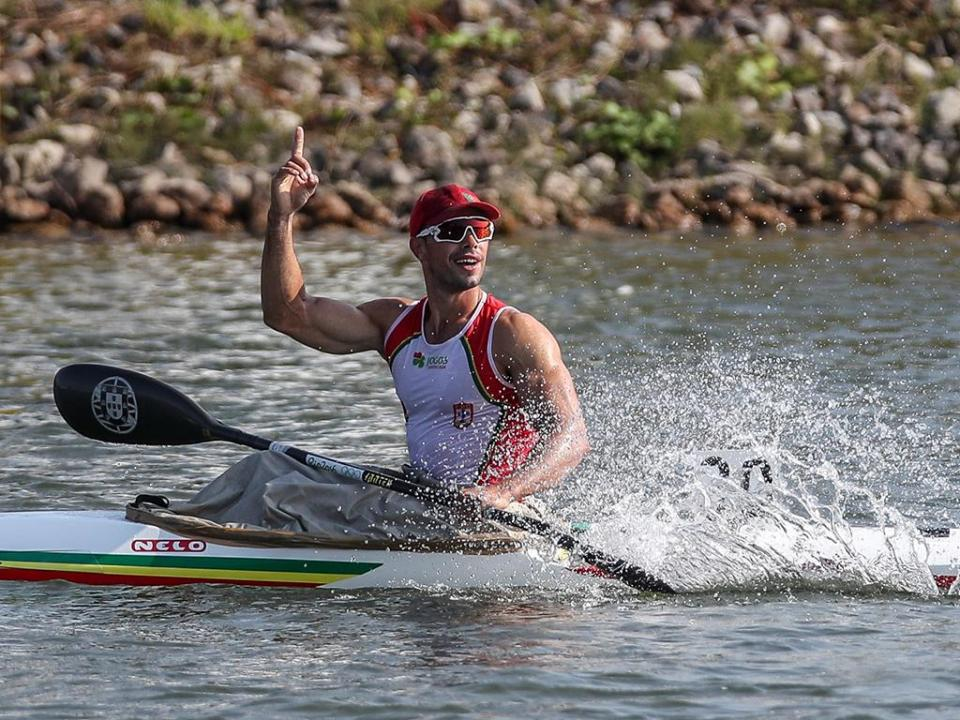 Fernando Pimenta na final de K1 500 nos Europeus de canoagem