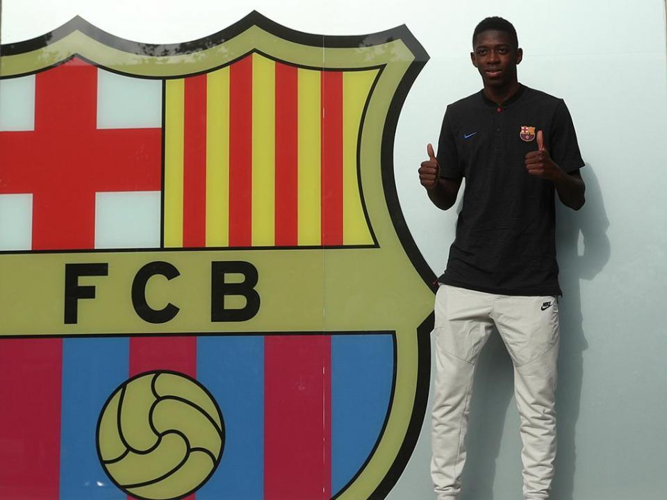 Barcelona: Dembelé volta a ser ausência no treino