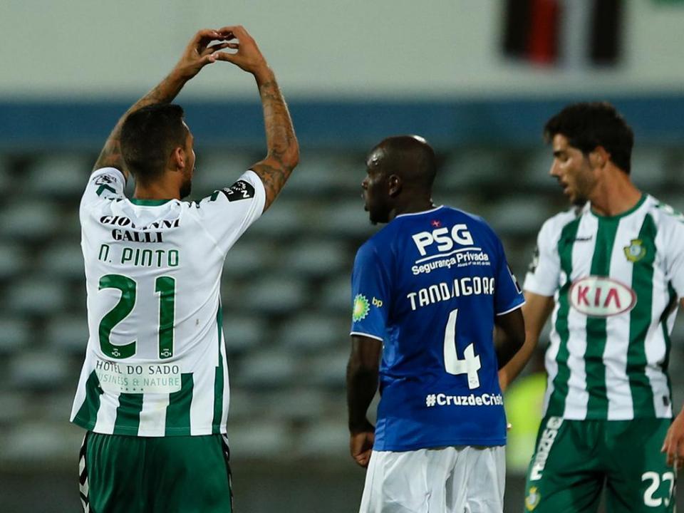 Liga: lateral Nuno Pinto suspenso por três jogos