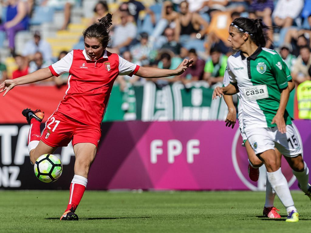 Futebol feminino: Sporting e Sp. Braga goleiam e mantêm distâncias