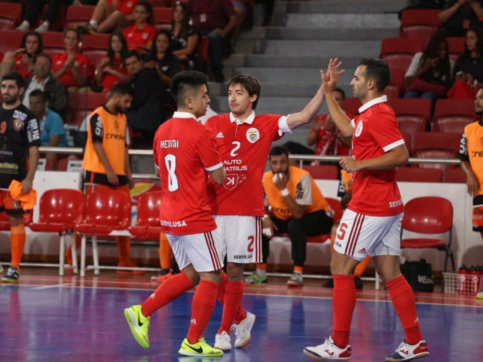 Futsal: Benfica empata com o Barcelona na Liga dos Campeões