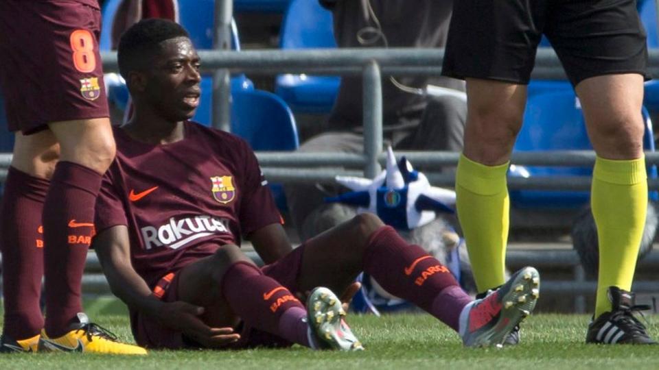 Atenção Sporting: Dembelé (Barcelona) com lesão muscular