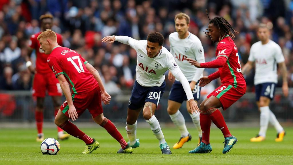Tottenham fica no empate sem gols com o Swansea — Inglês