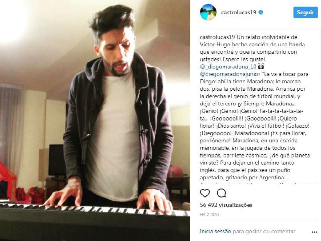 VÍDEO: jogador do Chievo canta música inspirada no «Golo do Século»