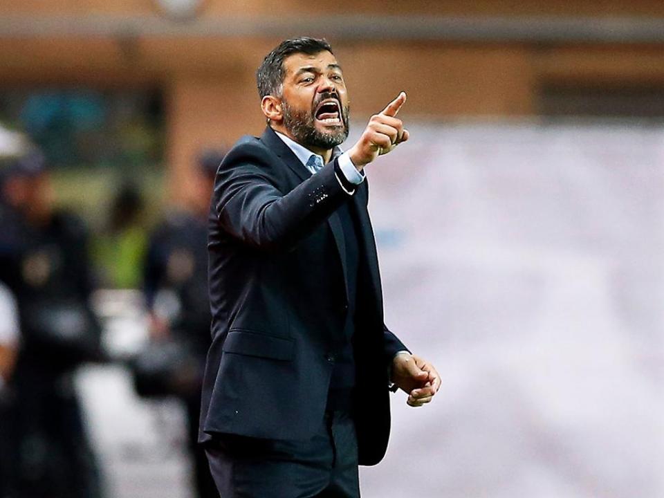 Castigos: Sérgio Conceição multado pela expulsão com o Portimonense