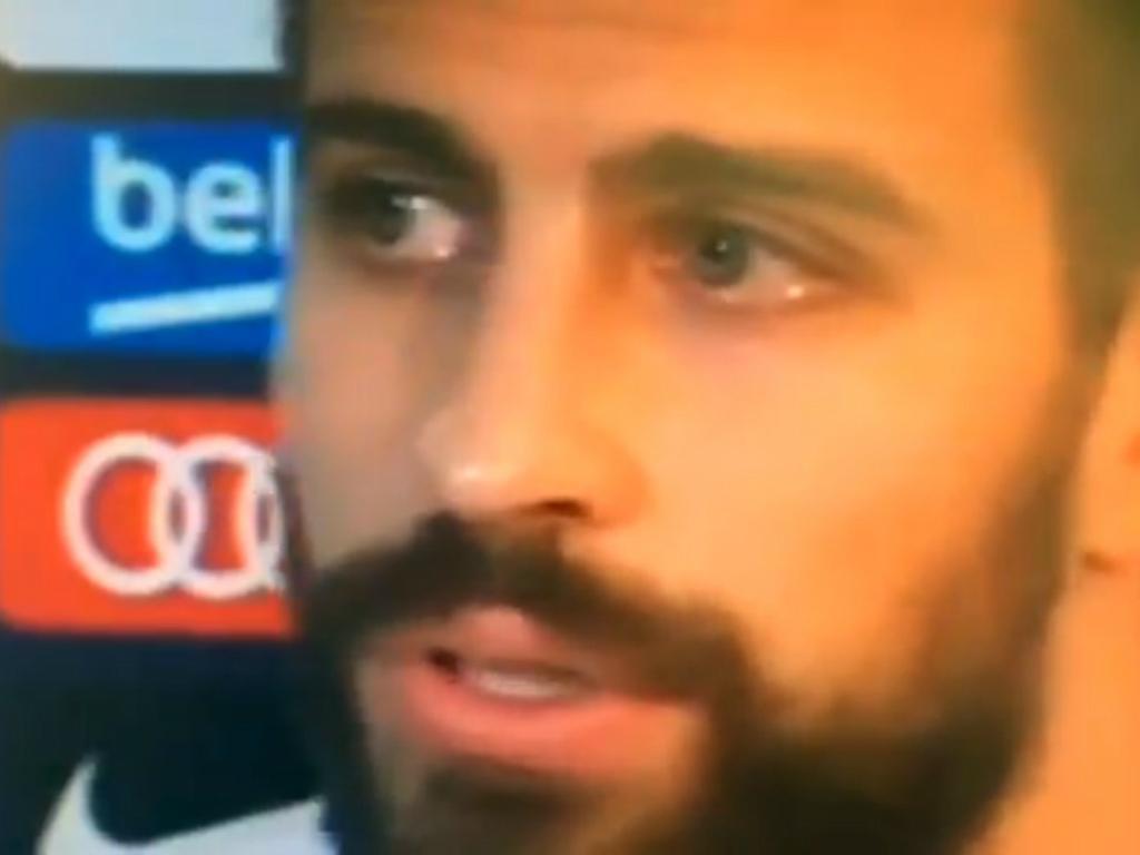 VÍDEO: Piqué chora e volta a admitir deixar seleção espanhola