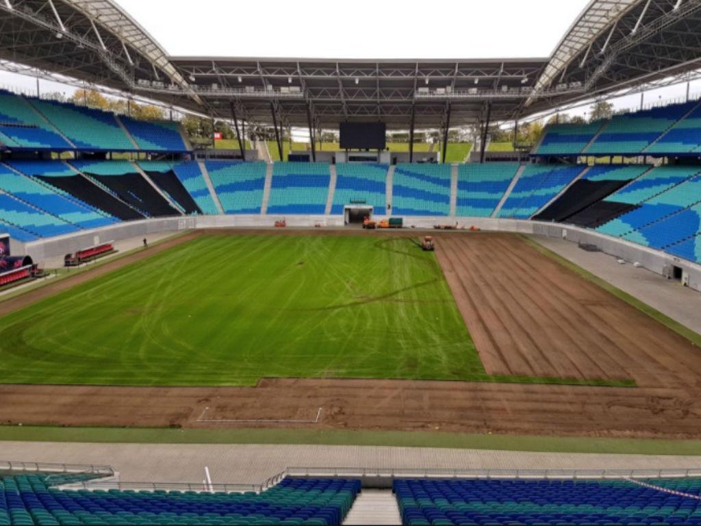 Assim está o relvado do Leipzig a menos de 15 dias da visita do FC Porto