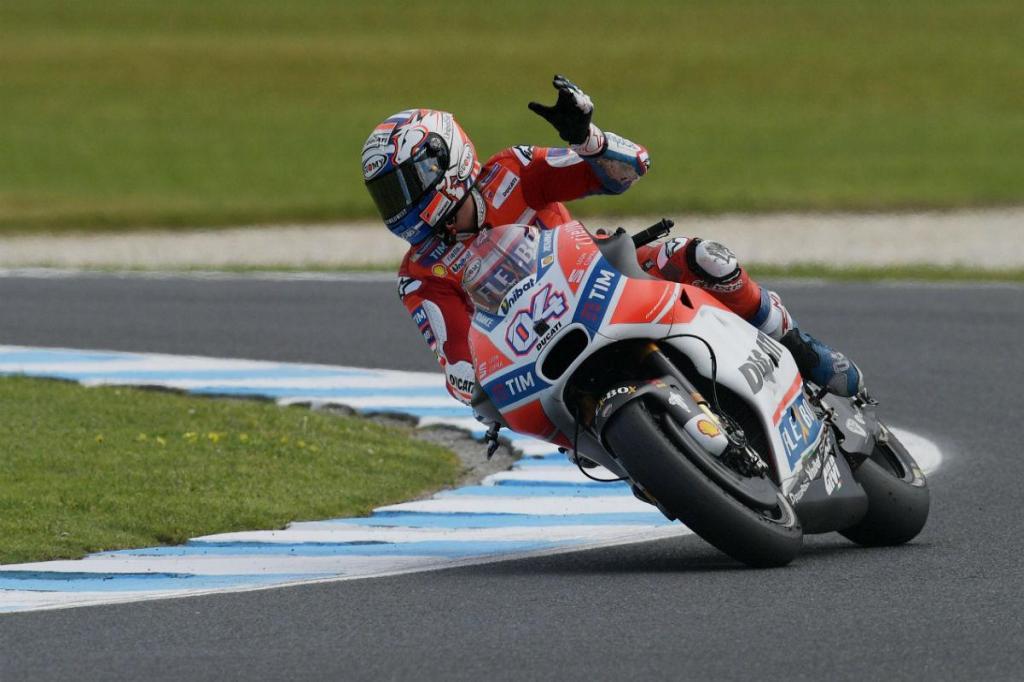 Dovizioso bate Bautista e lidera primeiro treino da MotoGP em Sepang