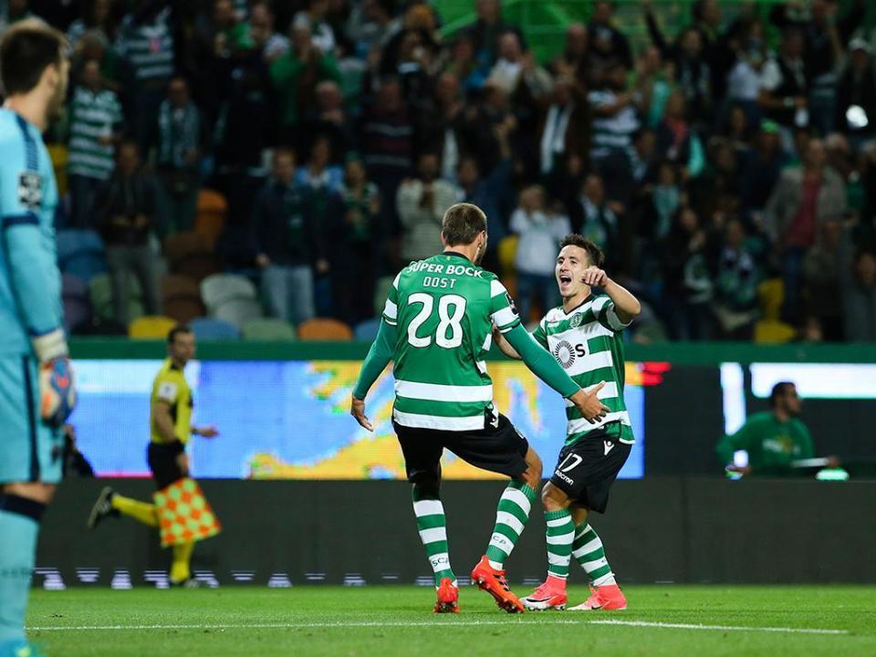 Sporting: Dost e Podence foram distinguidos em Leiria