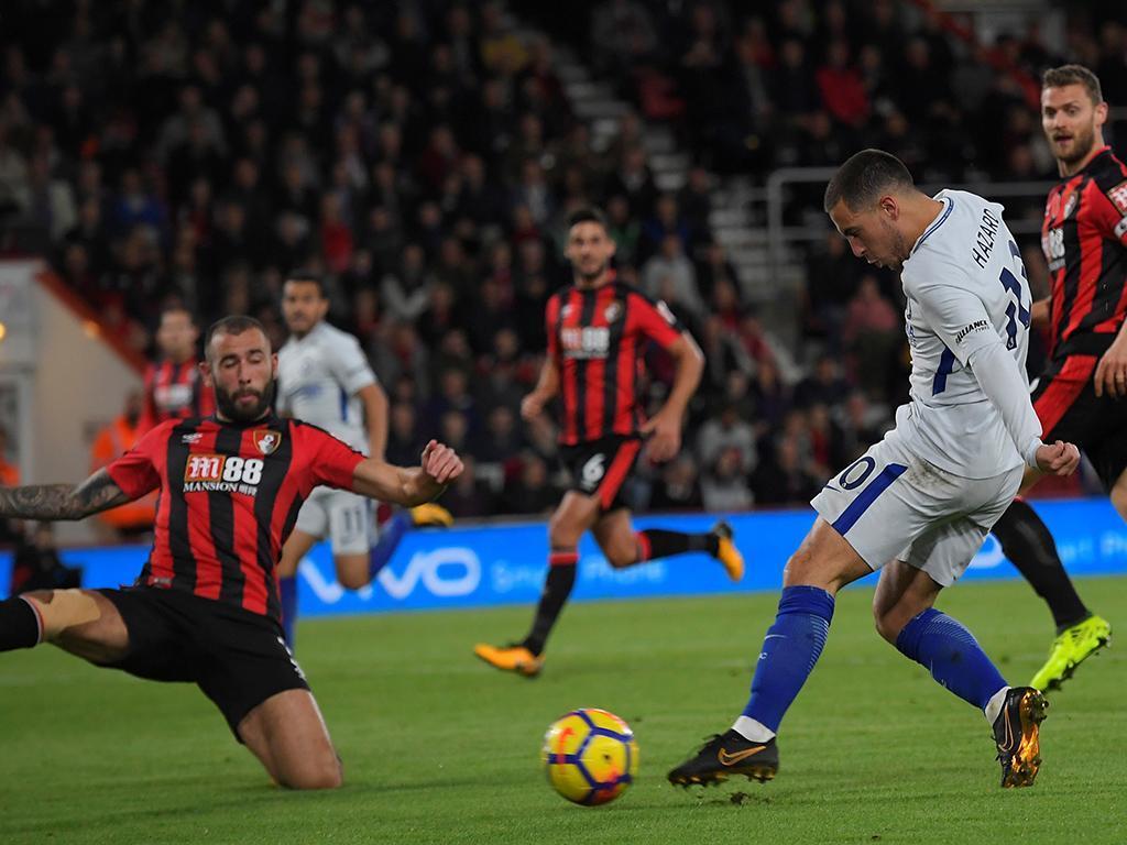 Hazard decide e Chelsea conquista vitória importante sobre vice-lanterna