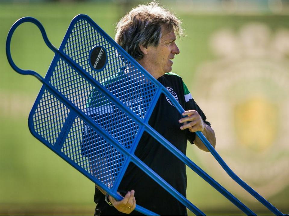 Sporting: duas novidades no treino desta quarta-feira