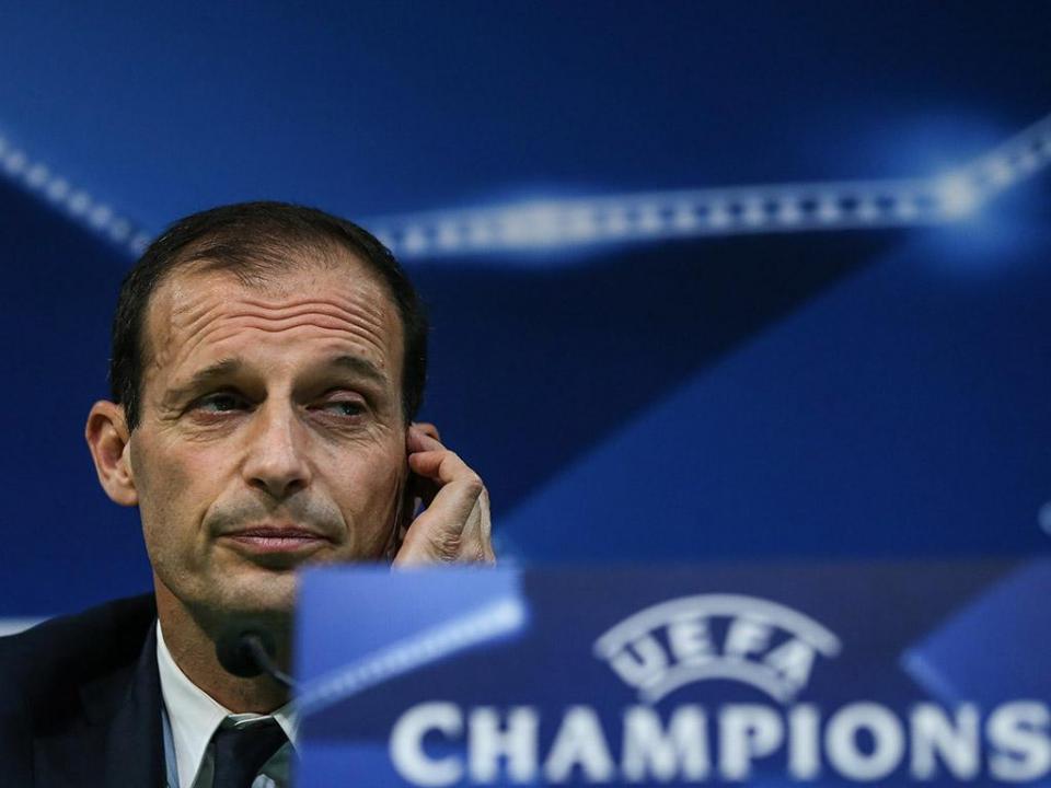 Allegri e a Juventus em Madrid: «Poucas hipóteses de passar»