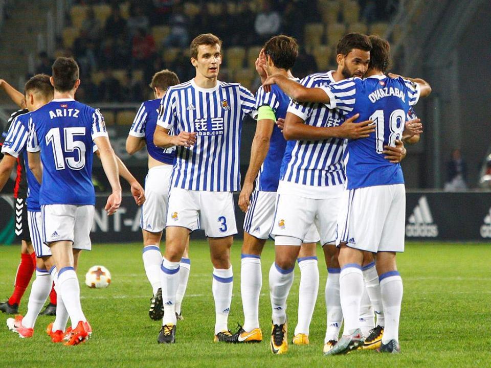 LE: Real Sociedad confirma 16 avos e junta-se ao Zenit