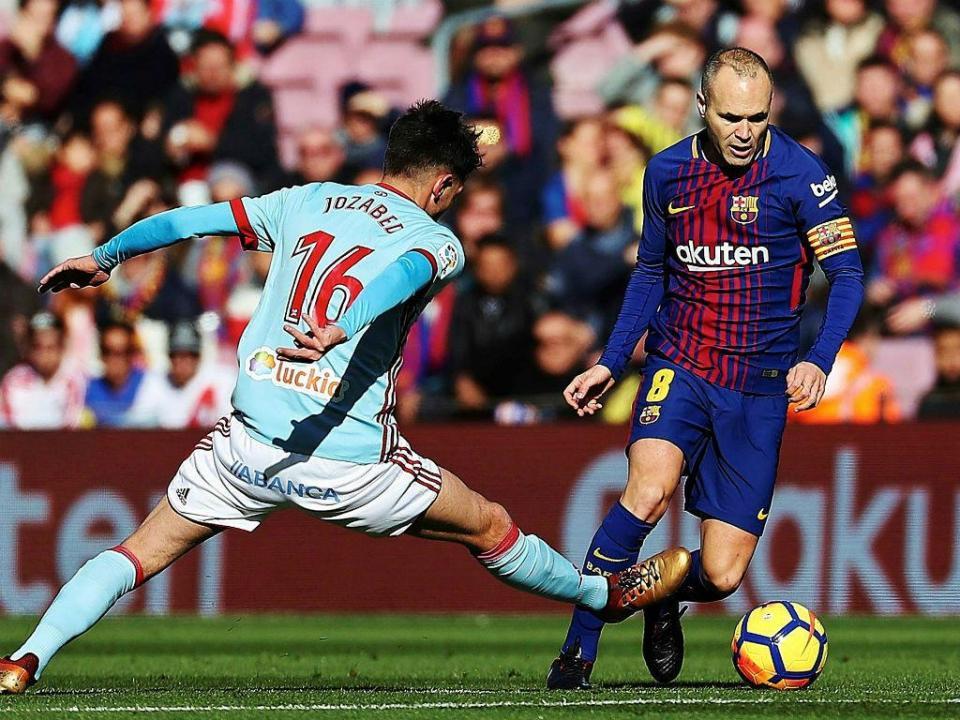 Barcelona: Iniesta falha receção ao Sporting