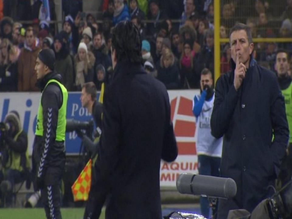 VÍDEO: treinador do Estrasburgo mandou calar Unai Emery durante o jogo