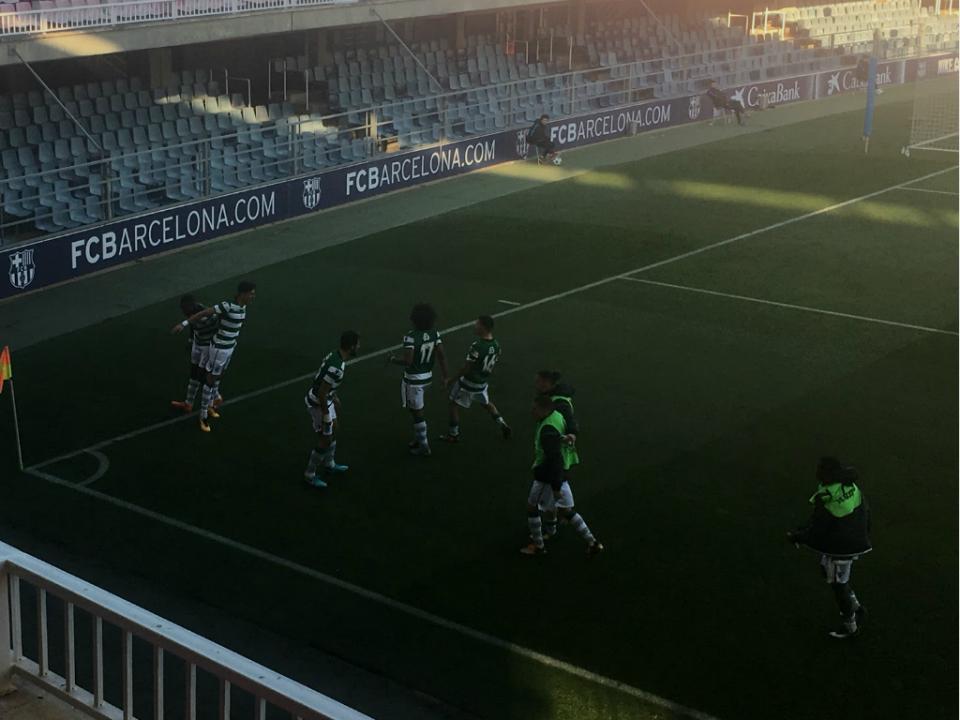 Youth League: Sporting empata em Barcelona ao cair do pano