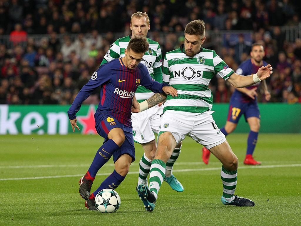 LC: Barcelona-Sporting, 2-0 (resultado final)